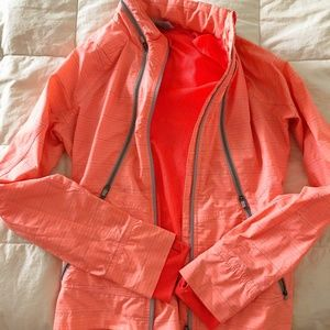 Athleta Run On Zip Up Lightweight Jacket Coral XXS